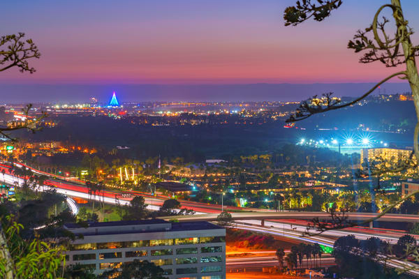 University Heights, San Diego Night Sunset Wall Art Print by McClean Photography