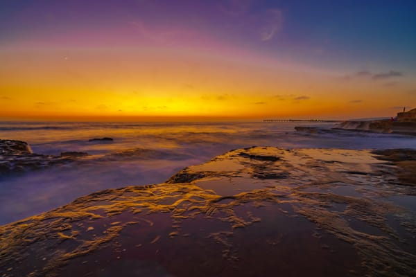 Warm Sunset At Ocean Beach, San Diego Fine Art Print Art | McClean Photography