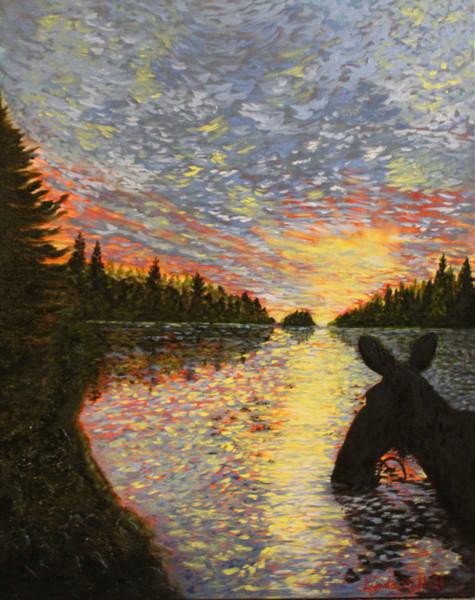 Sunset Over Tea Lake! Art | Lynda Moffatt Fine Arts