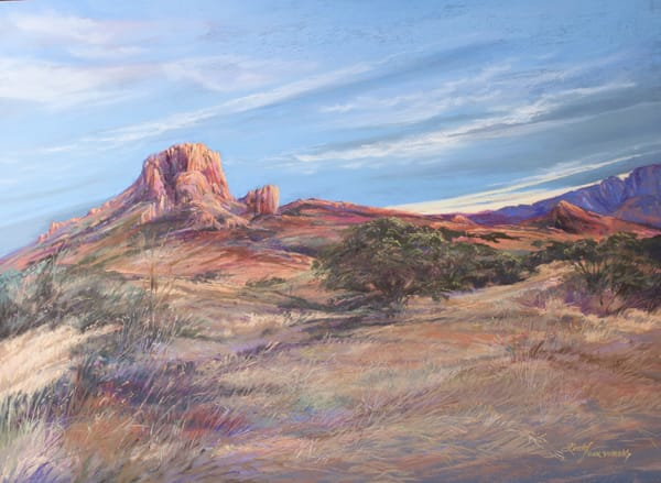 Lindy Cook Severns Art | Sky Swept Texas, original pastel