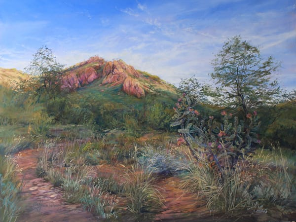 Lindy C Severns Art | High Desert Summer Splendor, original pastel