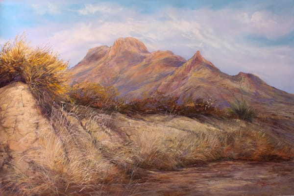 Lindy C Severns Art | Desert Waking, original pastel