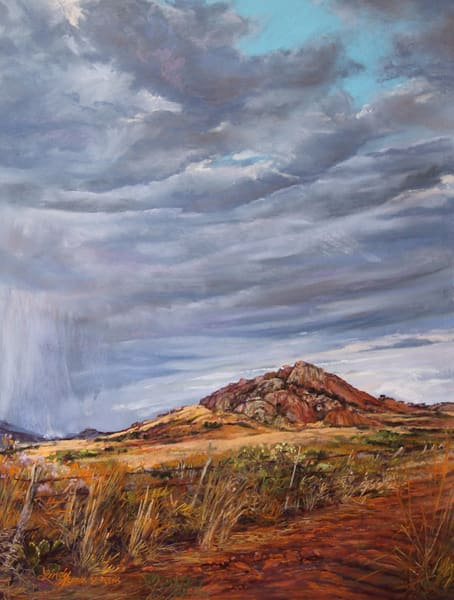 Lindy Cook Severns Art | A Welcome Drenching, original pastel