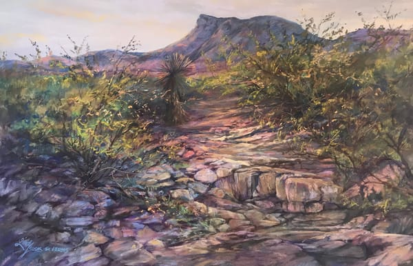 Lindy Cook Severns Art | Rock Flow, original pastel