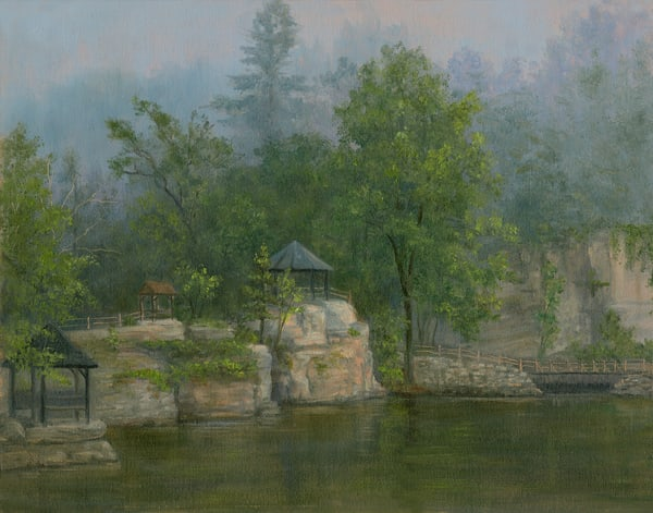 *Misty Morning At Mohonk, View From The Porch Art | Tarryl Fine Art