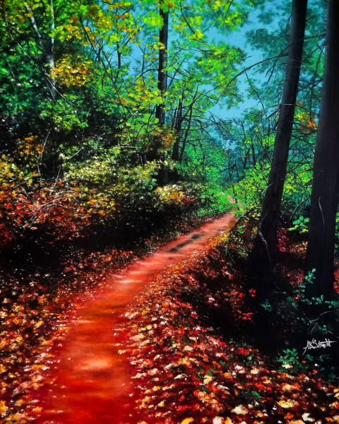Autumn Road by Ashley Koebrick Schmidt