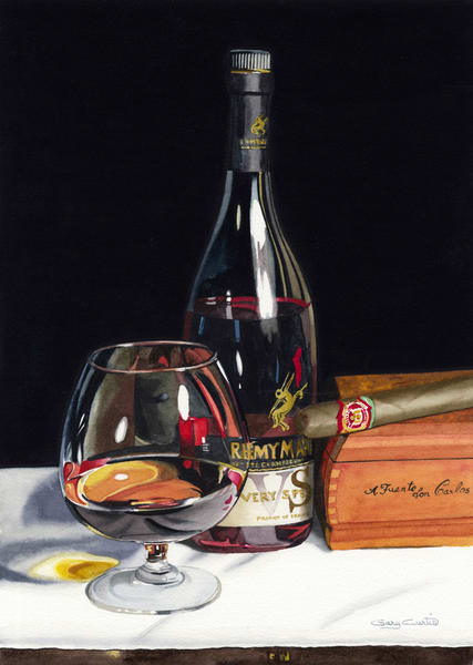 Brandy Cigar Art | Gary Curtis Watercolors