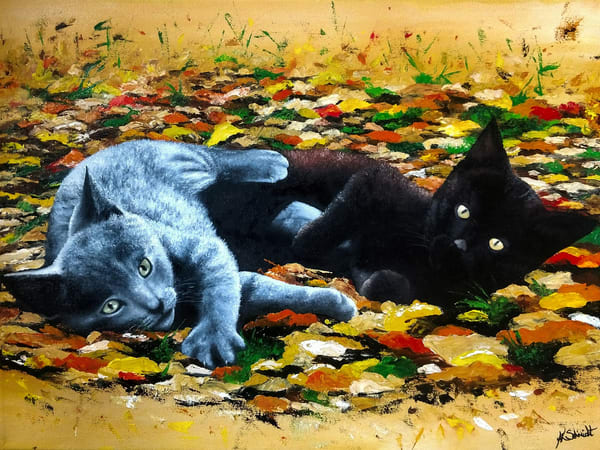 Playful Kittens by Ashley Koebrick Schmidt