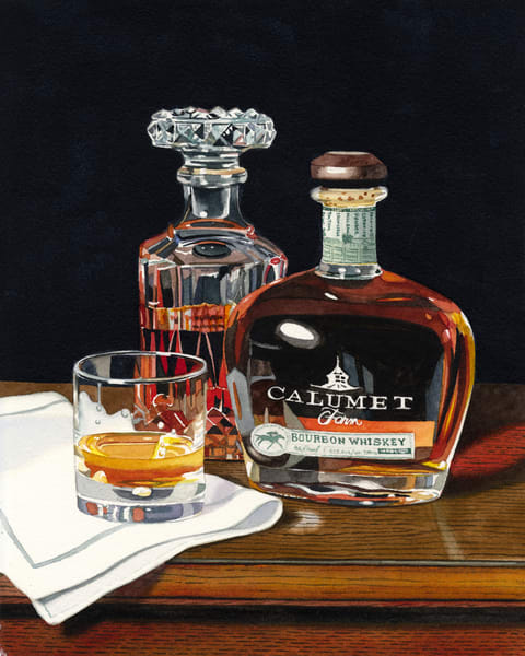 Calumet Farm Bourbon Art | Gary Curtis Watercolors