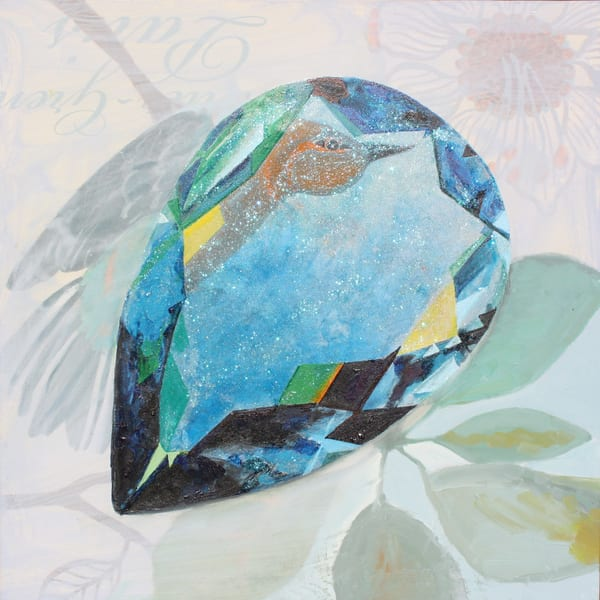 'Zhurong' Pear Aquamarine  Art   Cool Art House - online art gallery with hip emerging artists. Collect cool art you can view on your own wall before you invest!