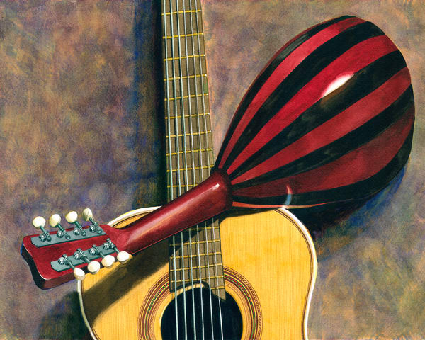 Guitar And Mandolin Art | Gary Curtis Watercolors