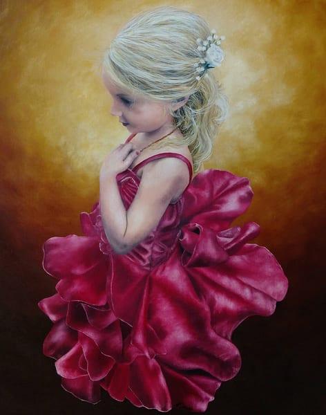 Flower Girl Painting by Ashley Koebrick Schmidt