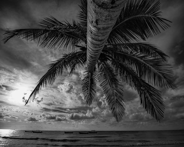 Skies of Tulum - in Black and White - Art Print