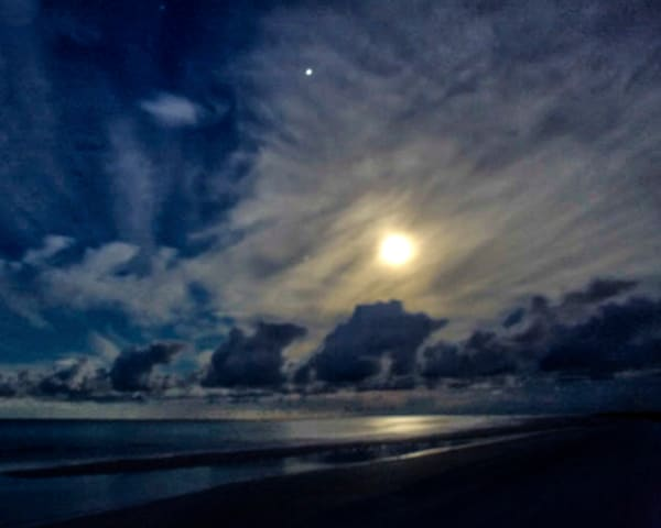 Moonset Over Siesta Photography Art | It's Your World - Enjoy!