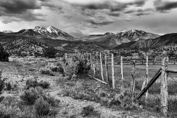 La Sal Mountains In Monochrome Photography Art | Nicholas Jensen Photography
