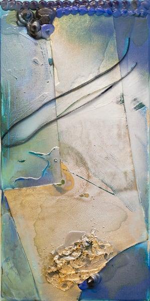 Truth Or Consequences Study, Blue Art | Makiko Harris Art