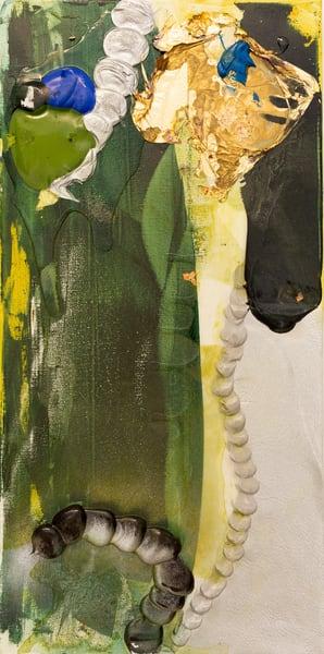 Truth Or Consequences Study, Green Art | Makiko Harris Art
