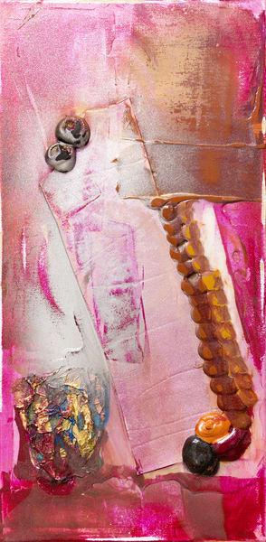 Truth Or Consequences Study, Magenta Art | Makiko Harris Art