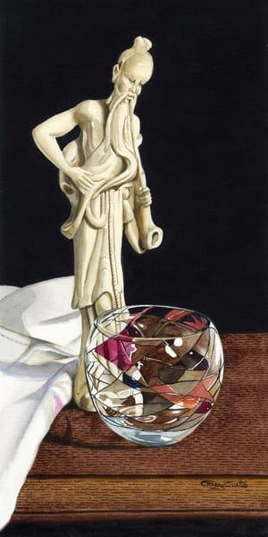 Oriental Figure Art | Gary Curtis Watercolors