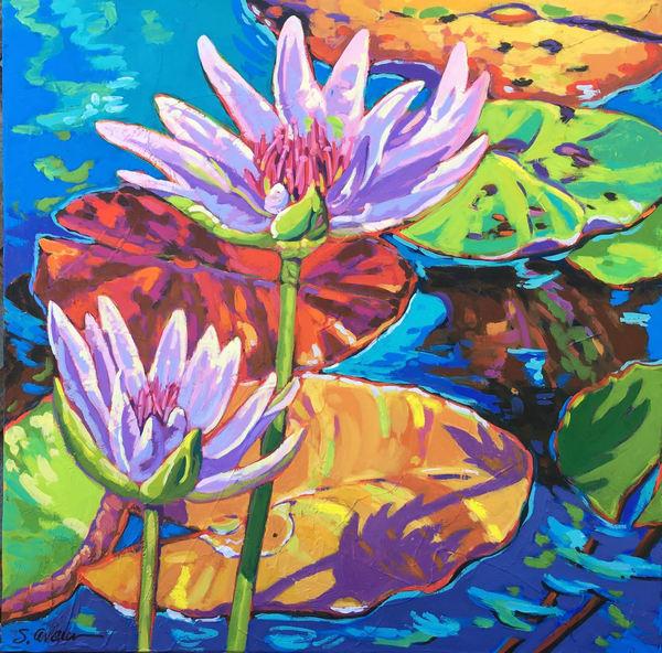 Winter Lily Pads Art | Sally C. Evans Fine Art