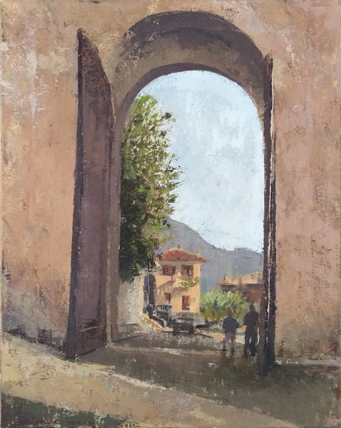 Assisi Gate Original Oil Painting 16x20 Art | Michelle Arnold Paine Fine Art