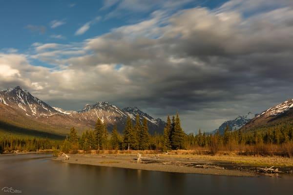 Evening light on Eagle River Valley in Southcentral Alaska.