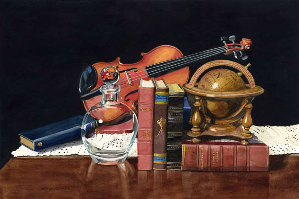 Strings And Shakespeare Art | Gary Curtis Watercolors