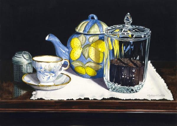 Tea With Lemon Art | Gary Curtis Watercolors