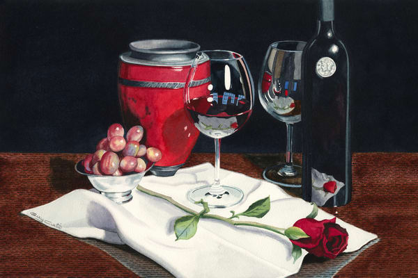 The Days Of Wine And Roses Art | Gary Curtis Watercolors