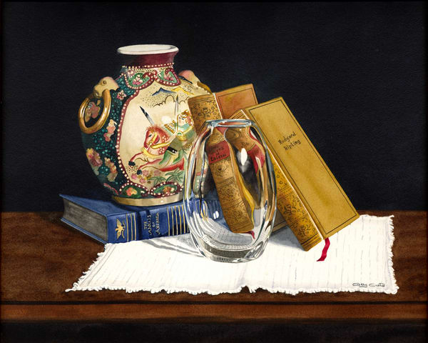 Thoughtful Reading Art | Gary Curtis Watercolors