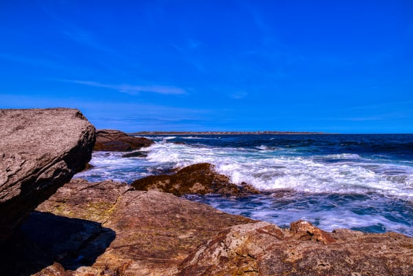 Around The Rock At Beavertail by Keith R Wahl, Made From RI Gallery