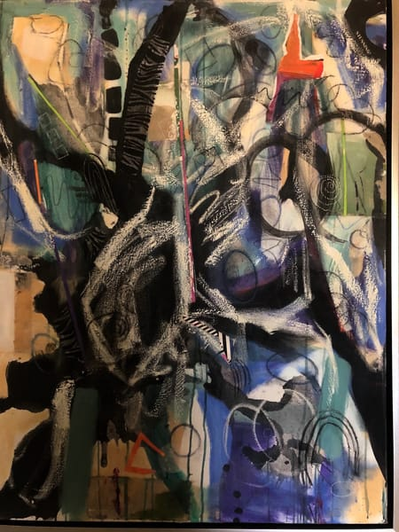 De Veuve Alexis Saving The Planet 42 X 32 Diptych Mixed Media On Canvas 2020 Art | MardisArt