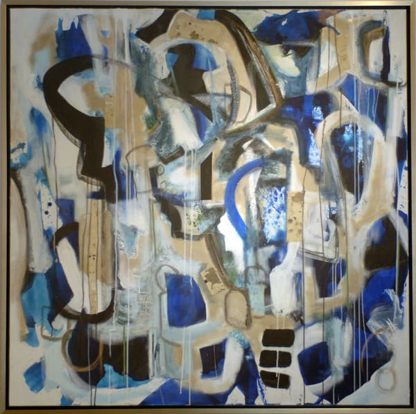 48x48 Glacial Meltdown Mixedmedia Collage On Canvas Dsc 0128 Art | MardisArt