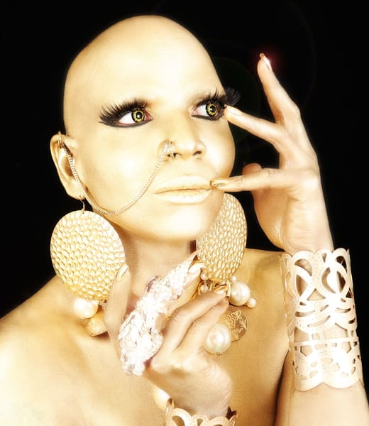 Coco Montrese. Gold Photography Art   Kristofer Reynolds Photography