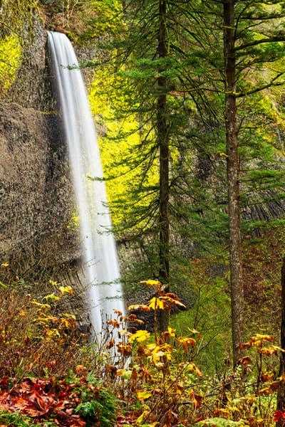Latourell Falls I - A Fine Art Photograph by Marcos R. Quintana