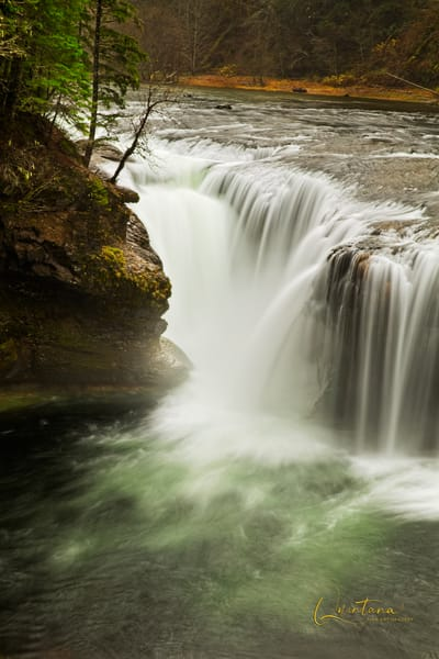 Lower Lewis River Falls - A Fine Art Photograph by Marcos R. Quintana