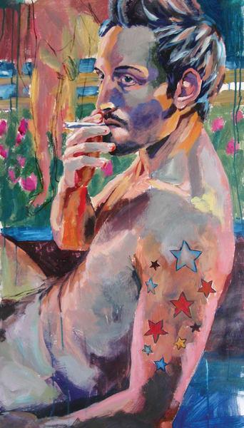 Joshua Smoking Art | Joan Cox Art