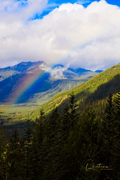 Rainbow and St. Helens - A Fine Art Photograph by Marcos R. Quintana