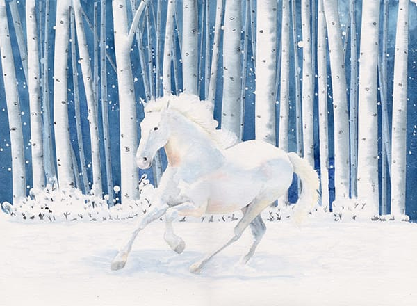 L <3 J Or Horse In Snow Art | East End Arts