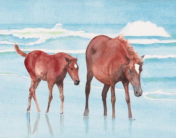 Ocean Ponies (Framed Giclee Print) Art | East End Arts