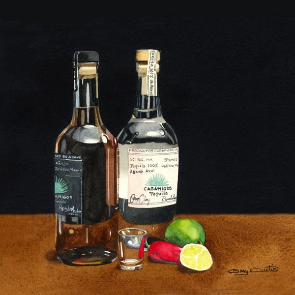 Casamigos Art | Gary Curtis Watercolors