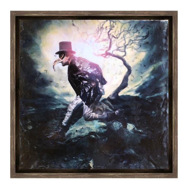 apocalyptic Anthony, encaustic, limited-edition, Ben Fink art prints, ready to hang.