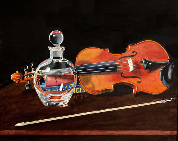 The Master's Violin Art | Gary Curtis Watercolors