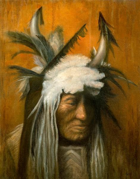 *Lean Wolf, Hidatsa Chief Art | Tarryl Fine Art