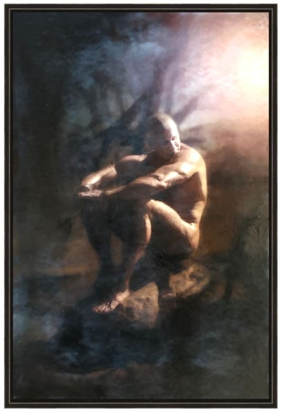 DREAMING WHILE AWAKE, Encaustic Limited Edition, Art Print by Ben Fink.