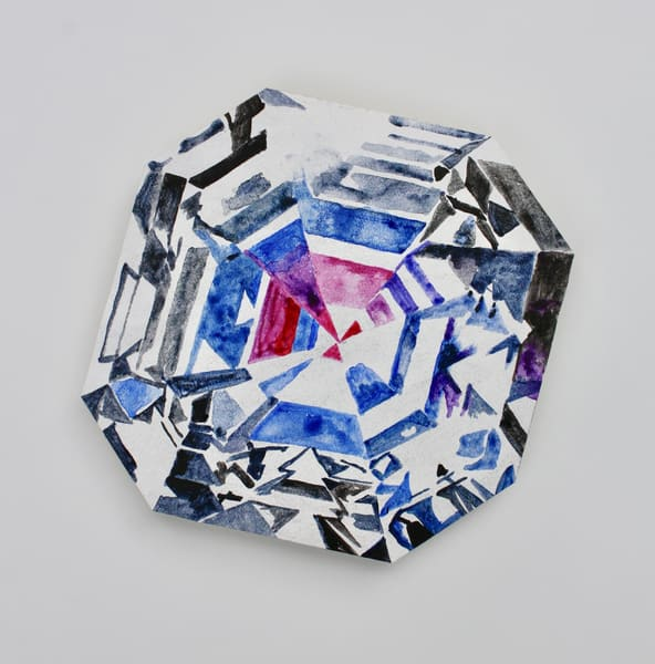 'Jyothi' Asscher Cut Diamond  Art | Cool Art House - online art gallery with hip emerging artists. Collect cool art you can view on your own wall before you invest!