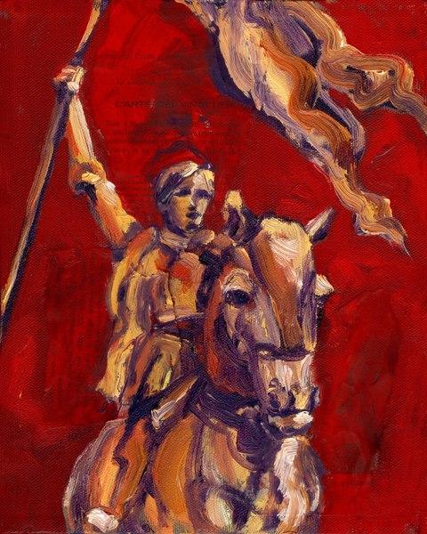 Joanof Arc Red Art   Joan Cox Art