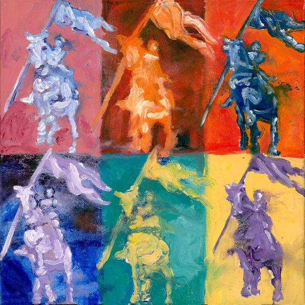 Joan Of Arc Quilt 4 Hires Art | Joan Cox Art