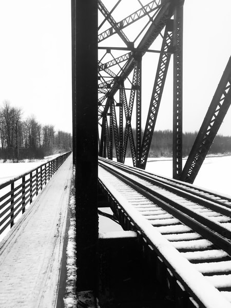Snow Dusted Bridge Photography Art | Visionary Adventures, LLC