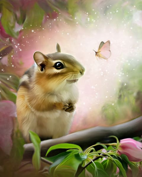 Chipmunk and Moth / Shop fine art photography by An Artist's View Photography